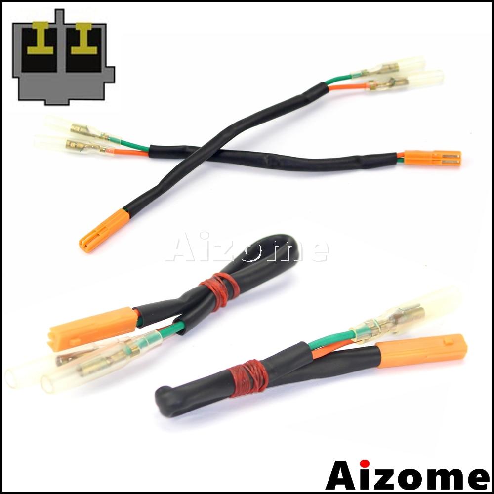 Motorcycle Rear Turn Signals Adapters Wiring Harness Connectors For Honda CBR600RR CBR1000RR CB650F CB500F CB500X CBR500R(China)