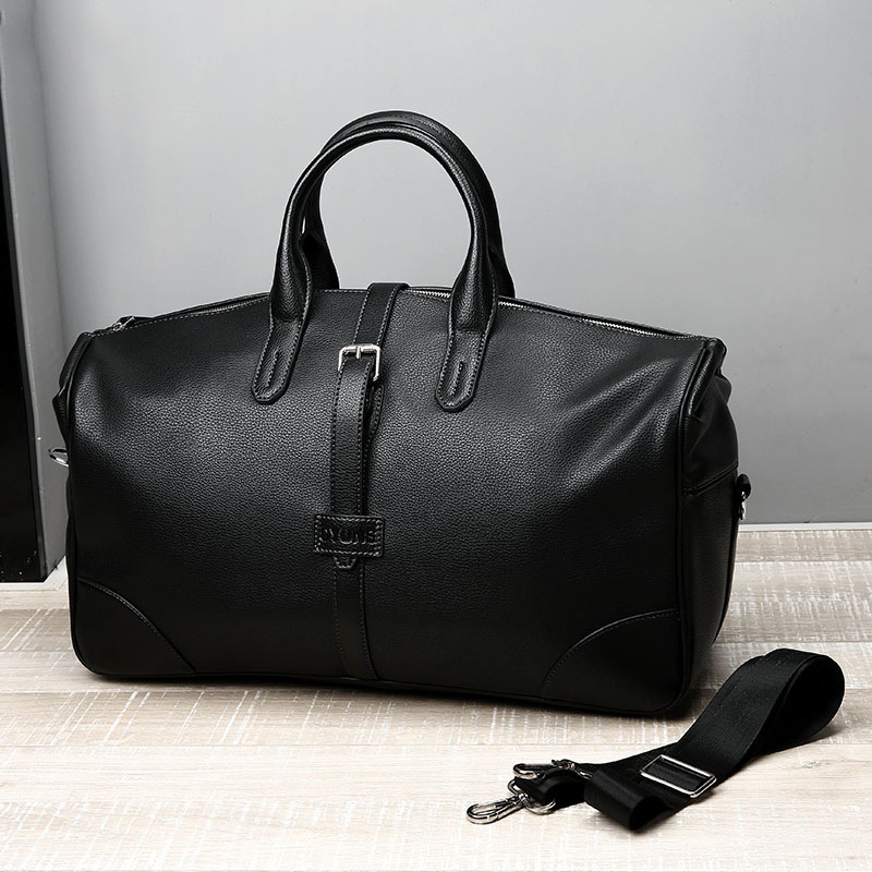 2019 New Fashion PU Leather Men Casual Travel Bags Carry on Luggage Bags Men Duffel Bags