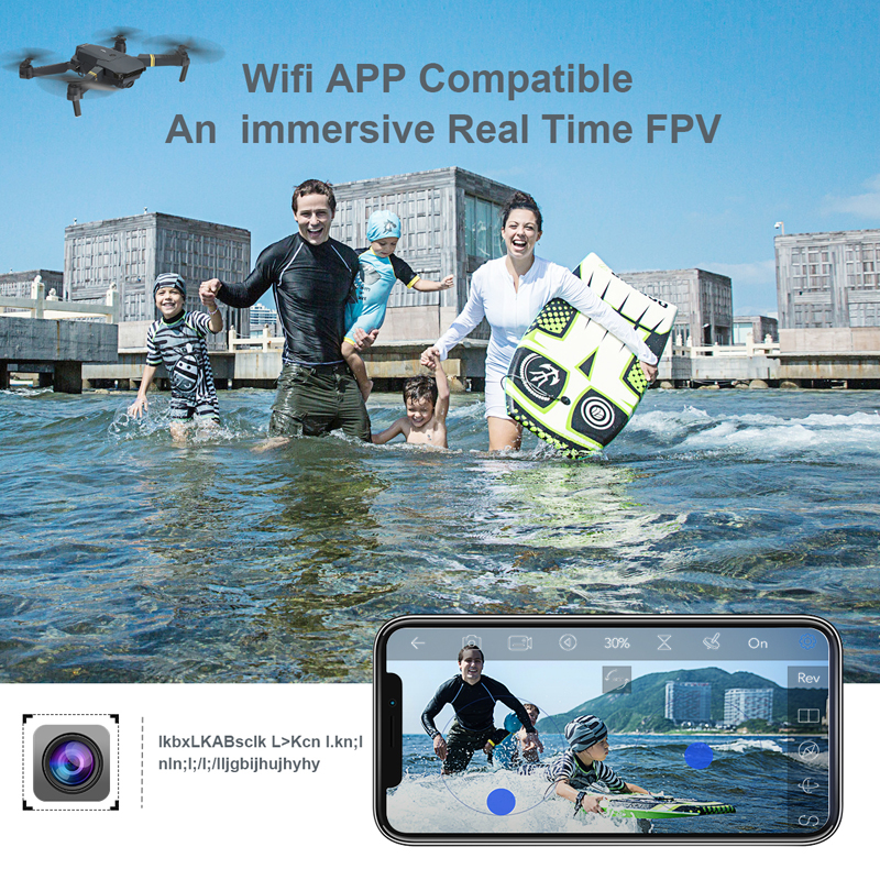 Eachine E58 WIFI FPV With Wide Angle HD Camera High Hold Mode Foldable Arm RC Quadcopter Drone RTF  XS809HW H37 1