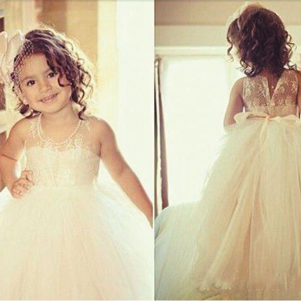 2020 First Communion Dresses Off Shoulder Tulle Cute Lace White Flower Girl Dresses For Weddings Cheap Kids Dresses Cardigan