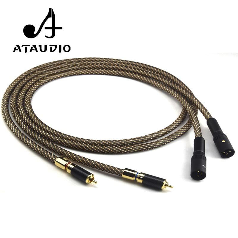 Aliexpress Com Buy Ataudio Silver Plated Hifi Xlr Male