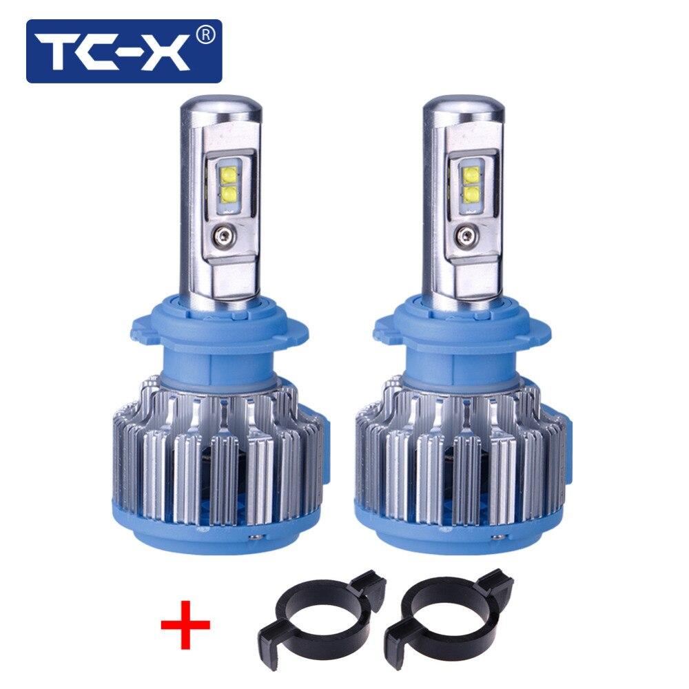 TC-X Pour Peugeot 508 3008 Voiture phares H7 LED Conversion Kits avec Adaptateur Tout en Un 6000 k Super Lumineux de refroidissement Fans