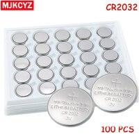 100 adet/grup, CR2032 3 V Düğme Pil Düğme Pil, para Pil, cr 2032 lityum pil Için Saatler, saatler, hesap makineleri