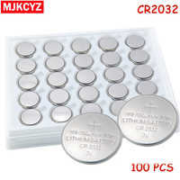 100pcs/Lot ,CR2032 3V Cell Battery Button Battery ,Coin Battery,cr 2032 lithium battery For Watches,clocks, calculators