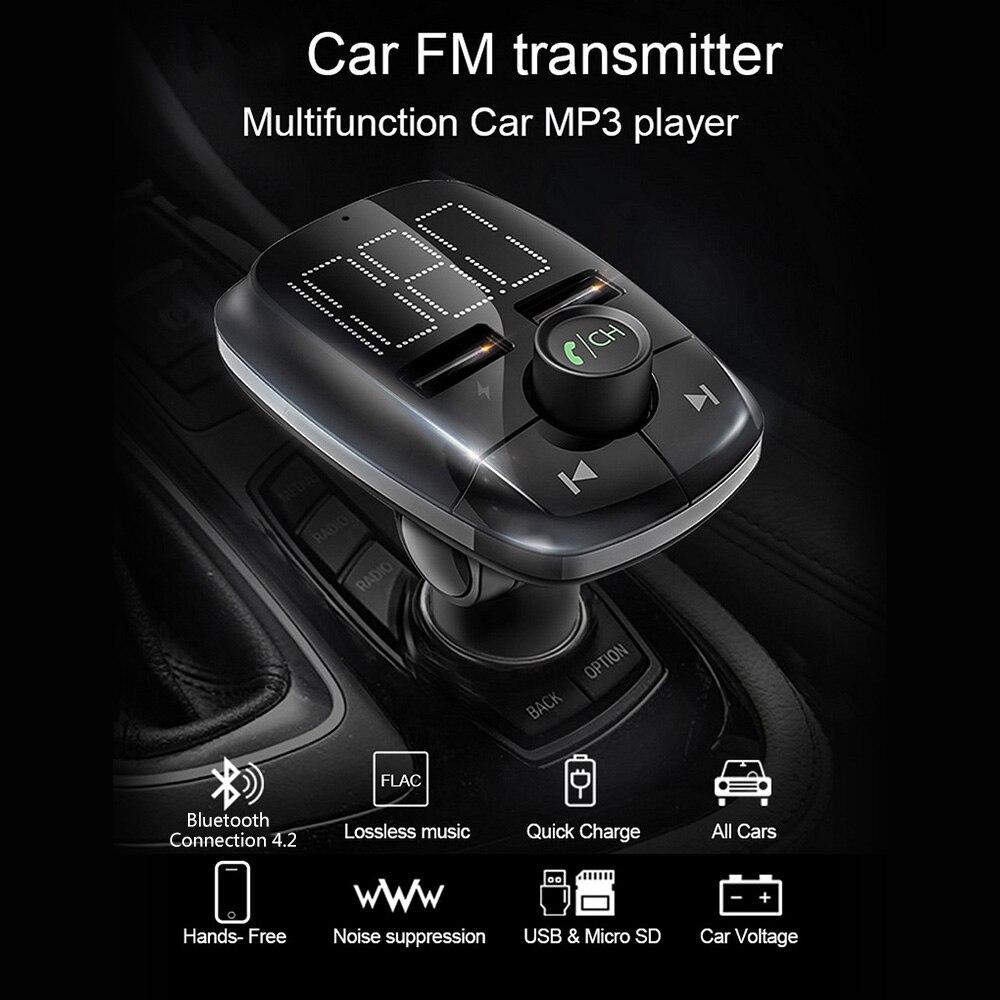 Автомобиль Bluetooth MP3 плеер цифровой трубки Дисплей стерео fm передатчик Dual USB мобильный телефон Зарядное устройство громкой связи-in MP3-плеер для авто from Автомобили и мотоциклы on AliExpress - 11.11_Double 11_Singles' Day