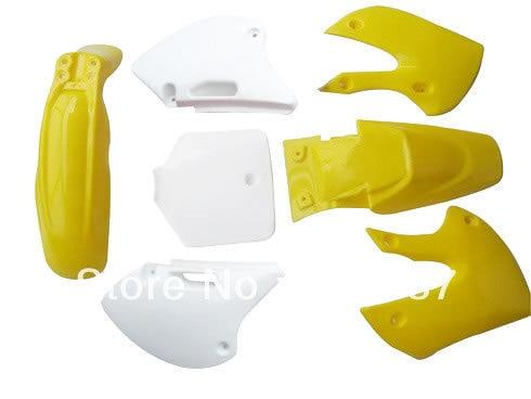 ФОТО Motorcycle Dirt Bike Body Plastic Fender For  BBR KLX110 KX White Yellow