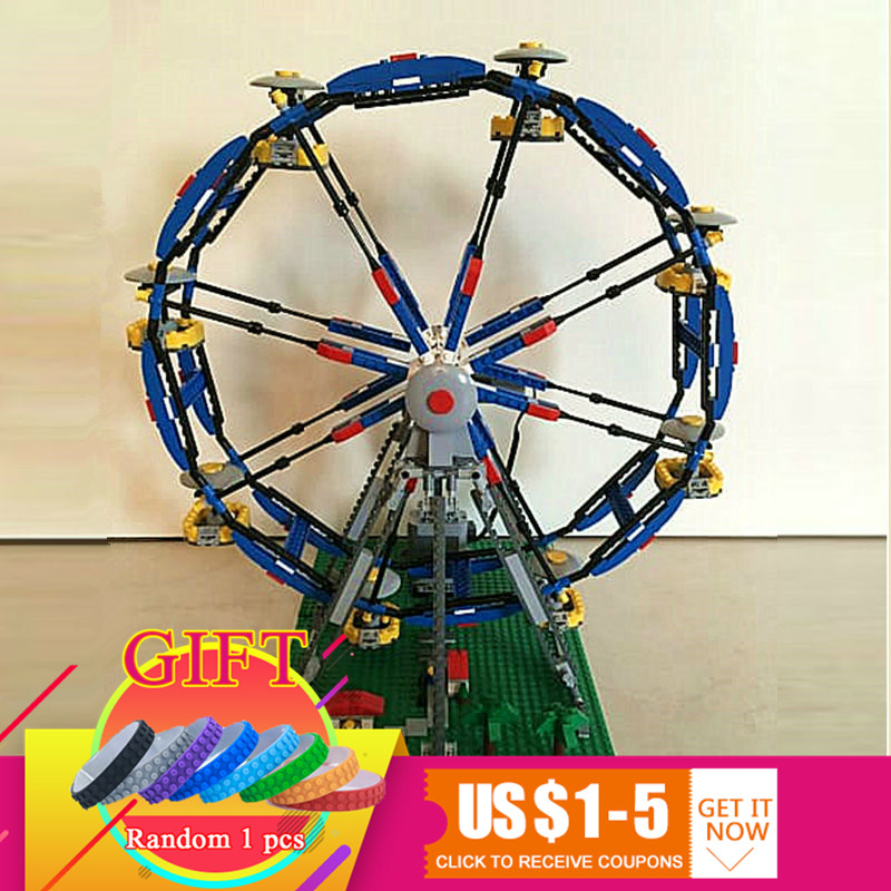 15033 1170Pcs Building Classic Series The Three-in-One Electric Ferris Wheel Set Building Blocks Compatible with 4957 toy lepin 15033 1170pcs building classic series the three in one electric ferris wheel set building blocks compatible with 4957 toy lepin