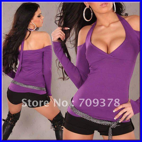 Sexy purple top