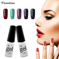 Verntion lukcy Colores de Neón Esmalte de Uñas de Gel de Larga duración Empapa del UV Colorful Nail art Gel Barniz base superior escudo