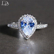 Zircon Rings Silver Color Fashion Jewelry Engagement Anel Vintage Finger Ring