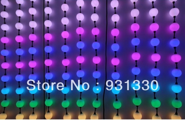 40PCS 50mm milky Ball WS2811 pixel module Full Color 3 LEDs 5050 SMD RGB 12V