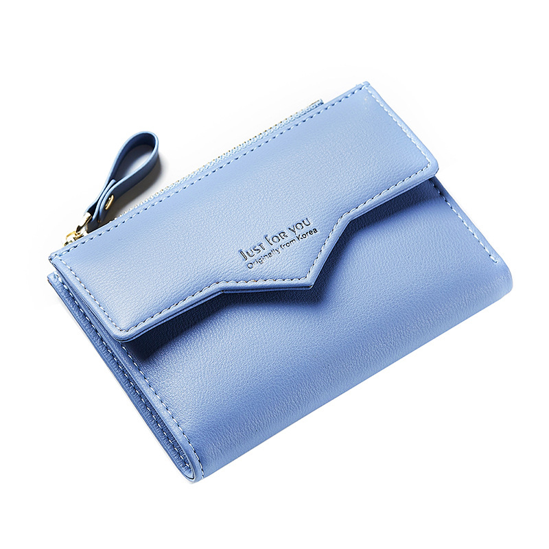 2018 Female Wallet Women Short Coin Card Holder Lady Money Bag Purse Carteira Slim Small Wallet Woman Blue Fashion xzxbbag fashion female zipper big capacity wallet multiple card holder coin purse lady money bag woman multifunction handbag