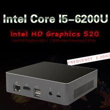 Intel шестого поколения core i5 6200u mini pc windows 10 desktop компьютер КНУ Неттоп HTPC barebone системы Skylake HD520 Графика 4 К Wi-Fi