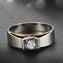 18K Gold GIA Diamond Ring for Men Genuine K Gold and Natural GIA Diamond Men Ring