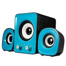 Mini  2.1 Multimedia Stereo Portable USB Desktop PC Speaker blue