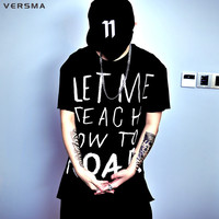 VERSMA 2017 Fashion Casual Streetwear American Style Graffiti Alphabet Letter T Shirt Men Short Sleeve Cotton