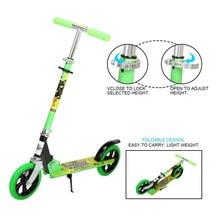 New 4 Height Adjustable Aluminum Alloy Foldable 2 PU Wheels Mini Children Kick Scooter Adults Children Kickboard High Quality