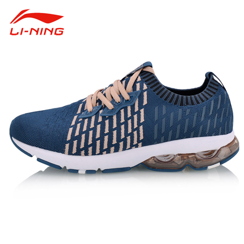 Li-Ning Women New BUBBLE ARC Cushion Running Shoes Striped Woven Breathable Sock Sneakers LiNing Stylish Sports Shoes ARHN014 kelme 2016 new children sport running shoes football boots synthetic leather broken nail kids skid wearable shoes breathable 49