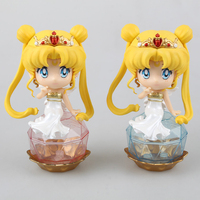 2pcs Lot 11cm Sailor Moon Tsukino Usagi Crystal Wedding Dress Princess Serenity PVC Action Figure Collectible