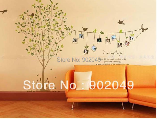 60x90cm Combined Sticker Photo Memory Tree Living Room Sofa Background Frame Wall Natural Wind KW- LM801