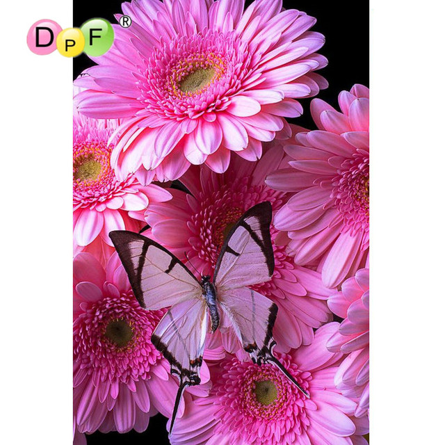 New diamond embroidery lovely Pink butterfly 3D diy diamond painting cross stitch rhinestone square Mosaic home decor floral