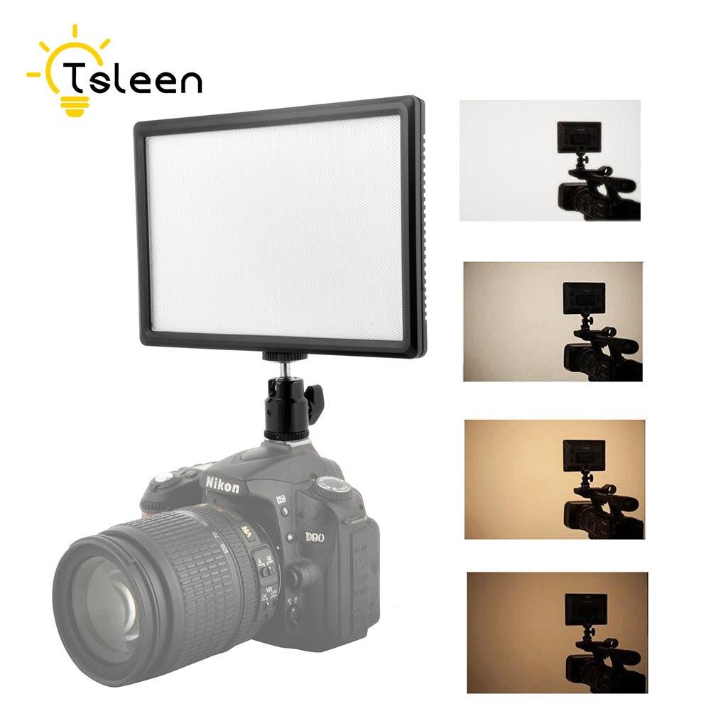 TSLEEN Dimmable 116 LED éclairage vidéo Photo sur l'appareil Photo lampe à LED de chaussures chaudes pour caméscope Canon/Nikon DSLR flux en direct