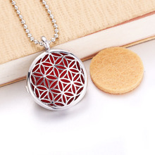 Round flower Aroma Diffuser Necklace Perfume Essential Oil Diffuser Aromatherapy Locket Pendant Necklace Women jewelry new aroma diffuser necklace vintage birdcage open cage pendant perfume essential oil aromatherapy locket pendant necklace