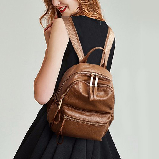 2018 Women Backpack High Quality Rucksack PU Leather Mochila Escolar Vintage Bags Backpacks Fashion Daypack