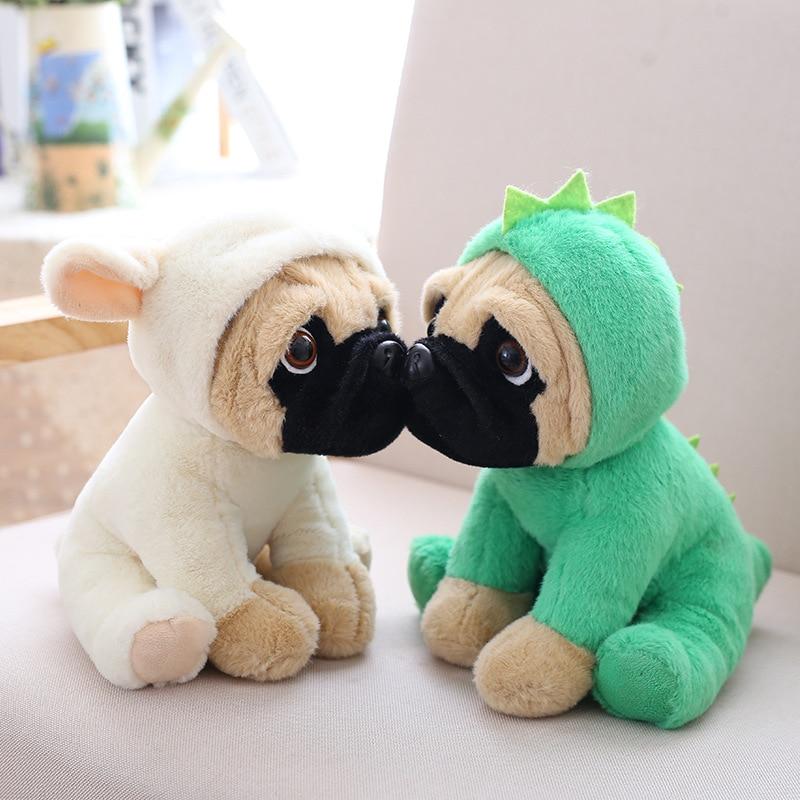 Stuffed Simulation Sharpei Puppy Dog Kid Toy Kawaii Simulation Animal Doll Birthday Gift For Girl Boy Cute Stuffed Dog Plush Toy