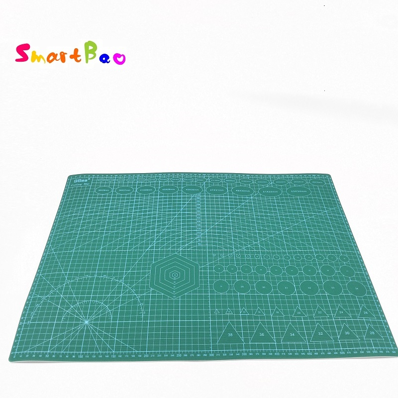 A2 двойной сталкиваются резки пластины профессиональная двусторонняя гибкая ткань поворотный Cuttign коврик белый Core Слои 60x45 см