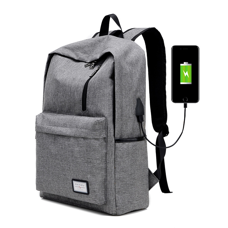 2017 New Canvas Backpack College Students School Backpack USB Charging Design Bags for Teenager Travel Unisex Casual Backpack
