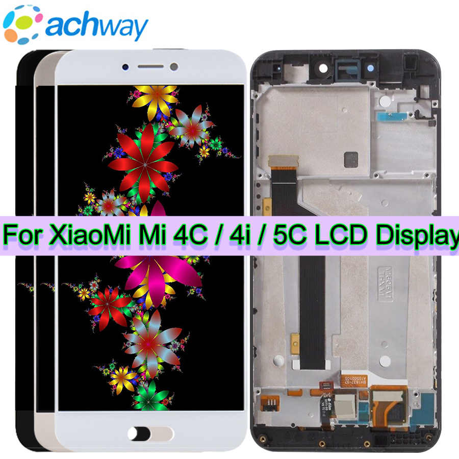 Her zaman için Xiao mi mi 4C mi 5C ekran Lcd dokunmatik ekranlı sayısallaştırıcı grup FHD 1920x1080 mi 5C mi 4C LCD değiştirme parçaları