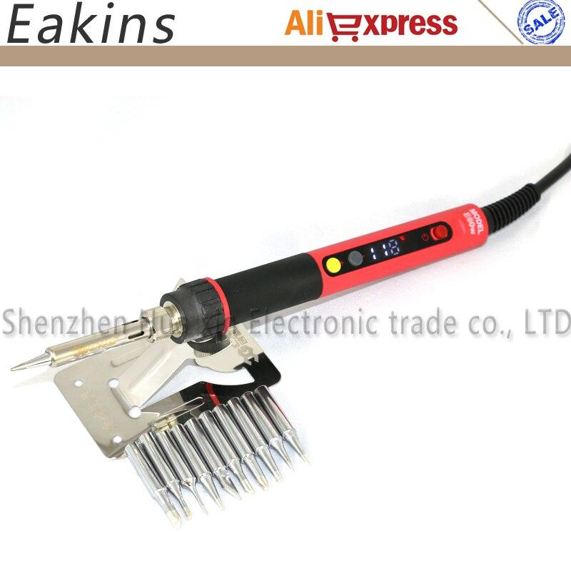 CXG E60W E90W E110W NC termostato Digital LCD Ajustável reparação de solda Elétrica punho de ferro de Solda + 10 pcs 900 M dicas