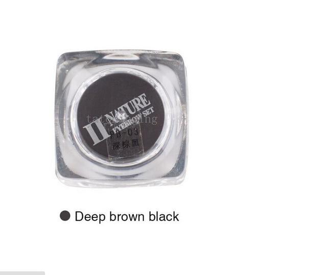 2 Piece PCD Deep Brown Black Microblading Pen Ink Permanent Makeup Eyebrow Pigment Set