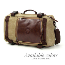 MAGIC UNION Men's Travel Bags Casual Men Canvas Shoulder Backpack With Three Large-capacity Multi-purpose Bag men backpacks