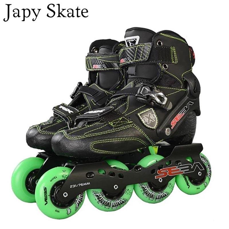 Prix pour Jus japy Skate D'origine SEBA Trix Adulte Slalom Professionnel Patins À Roues Alignées En Fiber De Carbone Chaussures À Roulettes Coulissante Livraison De Patinage Patines
