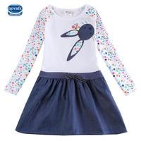 Novatx H5922 White Girls Dresses Autumn Winter Baby Girls Wear Fashion Children S Clothes For Girl