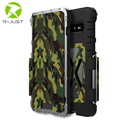 R-Nur Metall Flip Telefon Fall für Samsung Galaxy S10 Plus Luxus edelstahl Abdeckung für Samsung S10 Stoßfest vollen Schutz