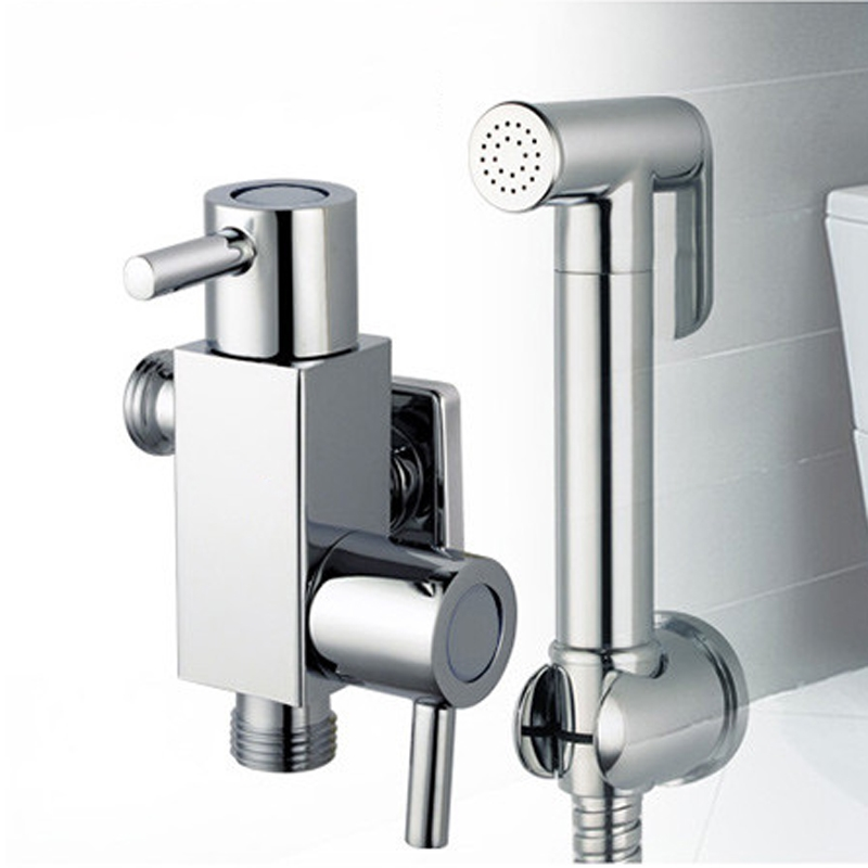 Bathroom Brass Wallmounted Handheld Multiple Bidet Sprayer Toilet