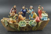 Porcelain Carving Chinese Famous The Eight Immortals Crossing The Sea Rare Noble Decoration Statue
