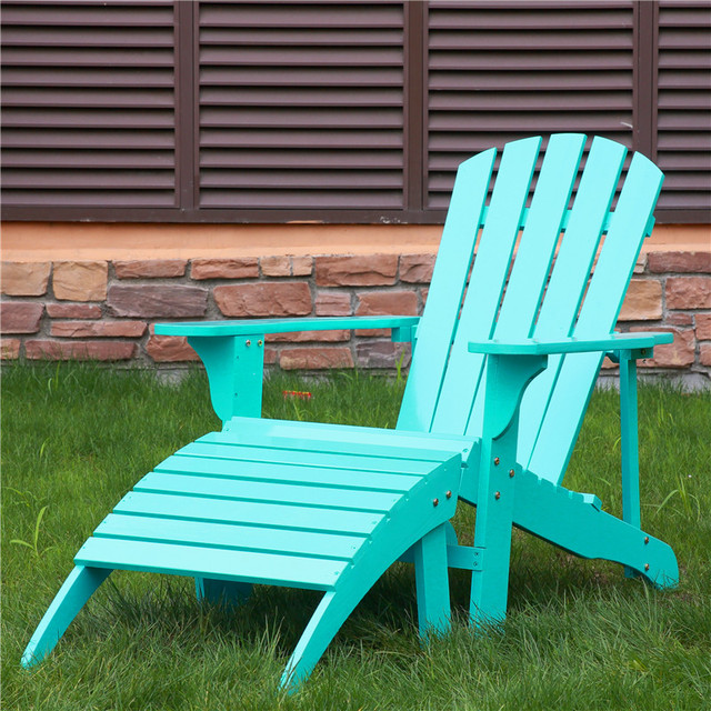 Free Shipping Outdoor Furniture Wood Folding Beach Camping Adirondack Chair  2017new Blue