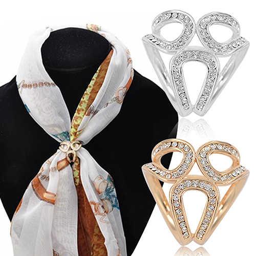 Berlian Imitasi Garland Ring Benang Bros Syal Sutra Klip Perhiasan Hadiah