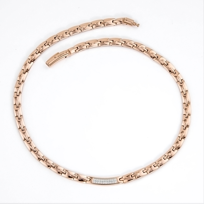 38 brand new jewelry rose gold plating vintage women necklace health magnetic germanium elegant zircon chocker for women gift stylish rhinestoned water drop rose gold plating necklace