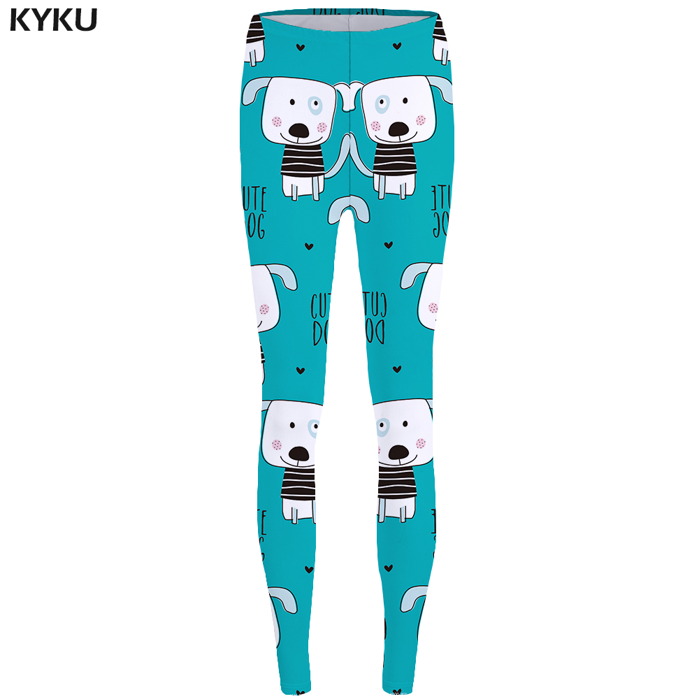 KYKU Dog Leggings Lovely Trousers for Stretch Pants High Waist leggins Legging Women Spandex Ladies Summer New