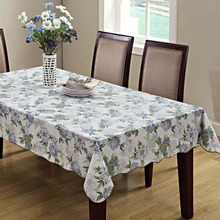 137*183 Engineered Flannel Backed Vinyl Tablecloth Oblong(rectangle) 54-inch-by-72-inch (multi)