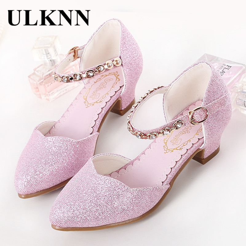 cdcb61fcbf ULKNN Princess Girls Sandals Kids Shoes For Girls Dress Shoes Little High  Heel Glitter Summer Party Wedding Sandal Children Shoe