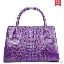 2018 ouluoer crocodile Real leather handbag with Thai alligator handbag shoulder bag European and American bag