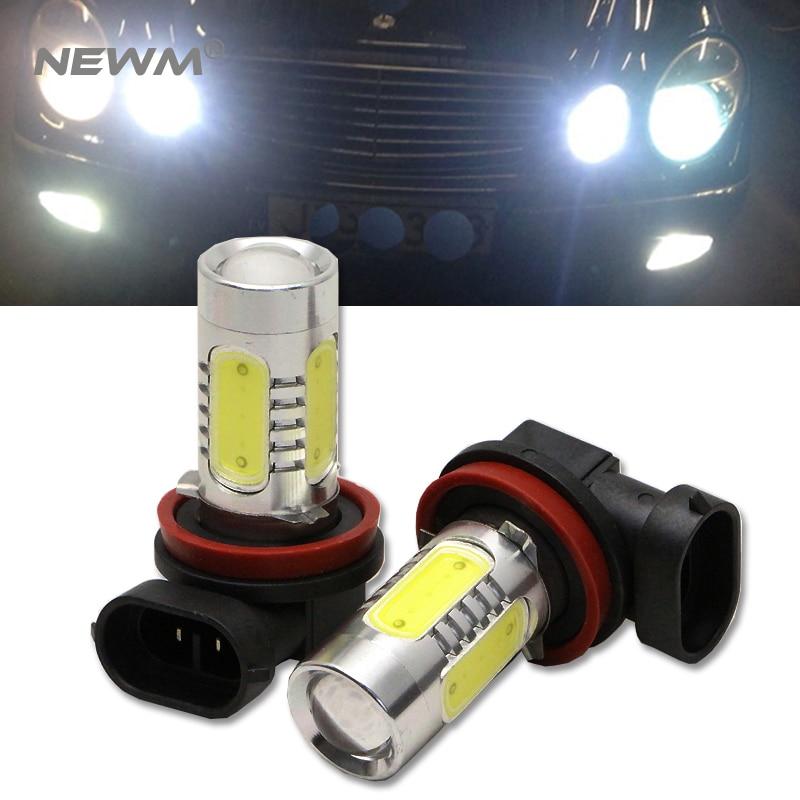 H11/H9/H8 LED Fog Light Lamp Bulb 11W CREE Chip COB LED Chip Technology (White) 2pcs