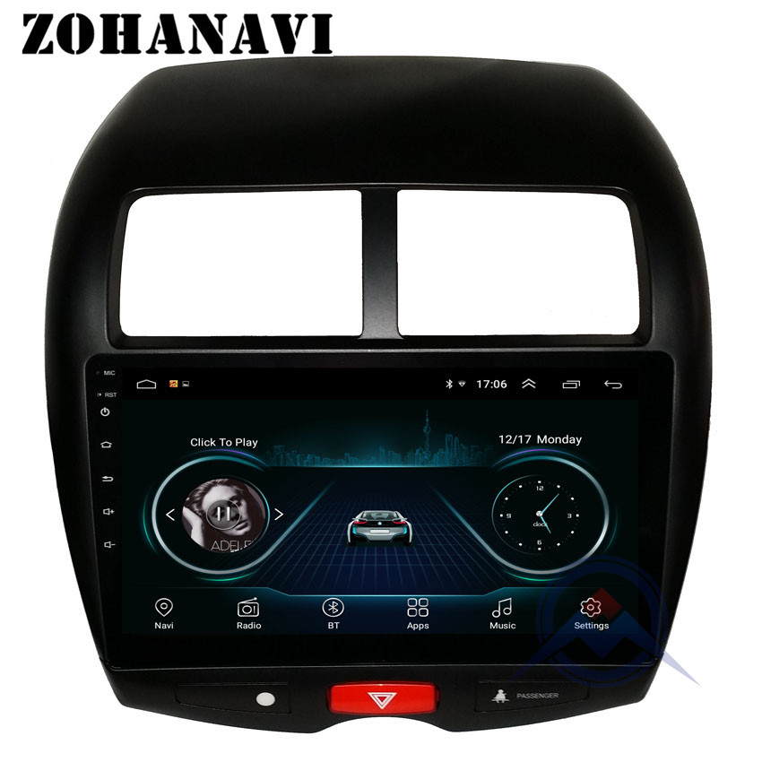 zohanavi android 8 1 2 5 d radio gps for mitsubishi asx. Black Bedroom Furniture Sets. Home Design Ideas