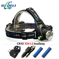 3800 lumens zoom xm l led Headlamp cree xml T6 xm-l2 Headlight Rechargeable Lamp 18650 Rechargeable Battery Lantern Head Torch